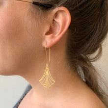Load image into Gallery viewer, Art Nouveau Triangles Earrings by A Tea Leaf