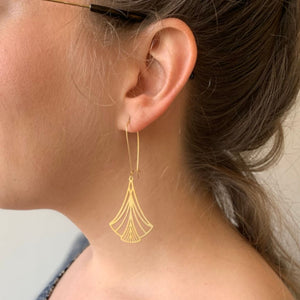 Art Nouveau Triangles Earrings by A Tea Leaf