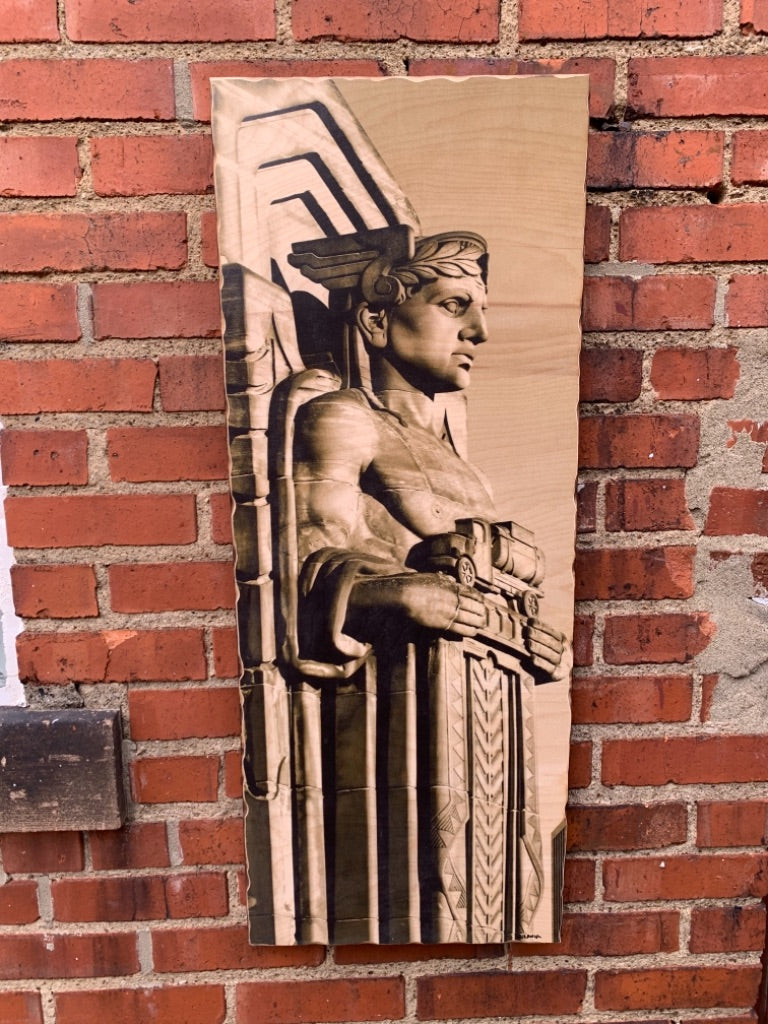 Guardian of Traffic Woodprint by Foundry Woodprints (IN STORE OR CURBSIDE PICK UP ONLY)