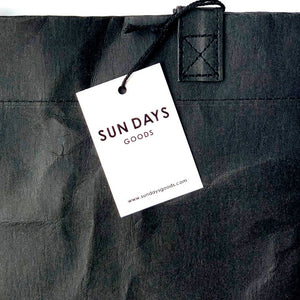 MARKET BAG-Black-Reusable Bag Made From Washable Paper