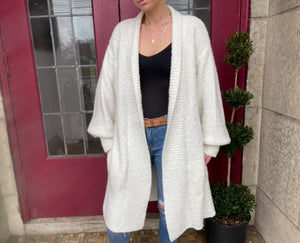 Oversized Cream Cardigan Sweater