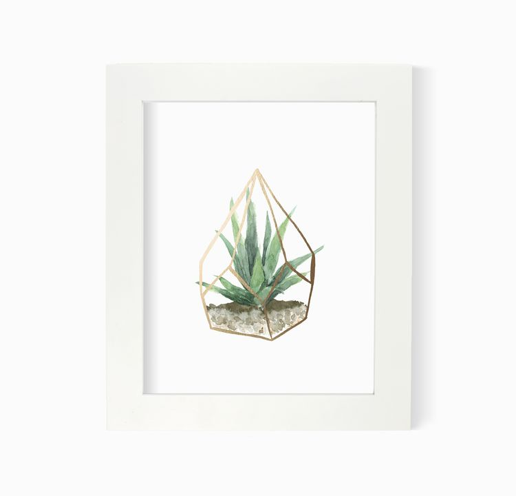 Lake Erie Design Co Golden Terrarium Print (frame not included)