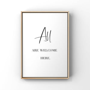 All Are Welcome Here...5x7 Unframed Print by Evergreen Decor Co