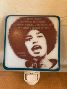 Angela Davis Night Light by Hunky Dory Studio