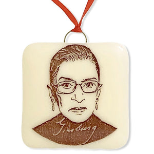 Ruth Bader Ginsberg Ornament by Hunky Dory Studio