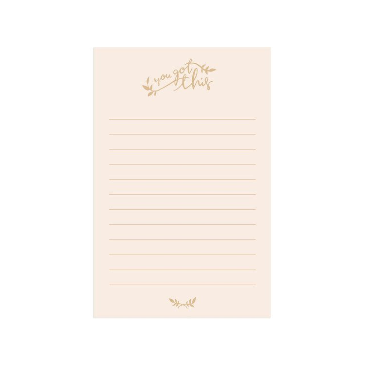Lake Erie Design Co You Got This Notepad