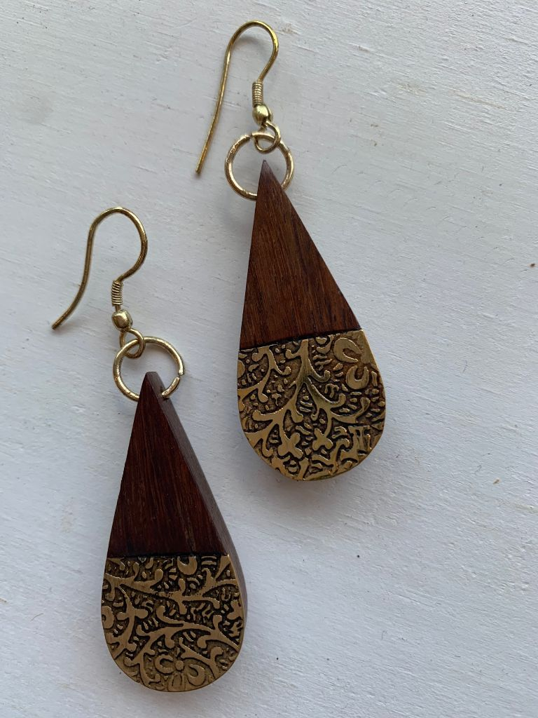 EARTH AND FIRE EARRINGS - TEARDROP