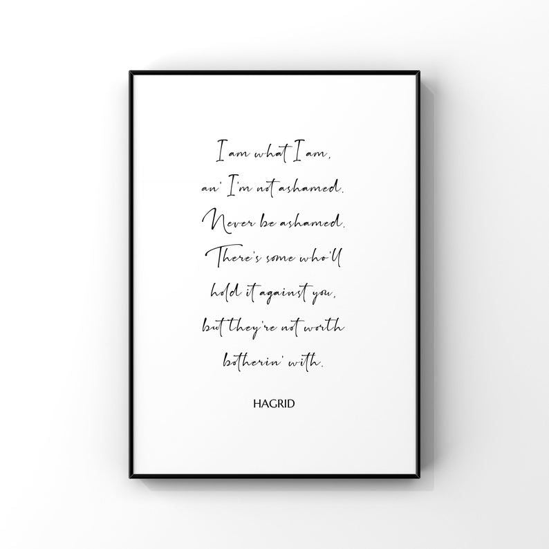 I Am What I Am...Hagrid 8x10 Unframed Print by Evergreen Decor Co