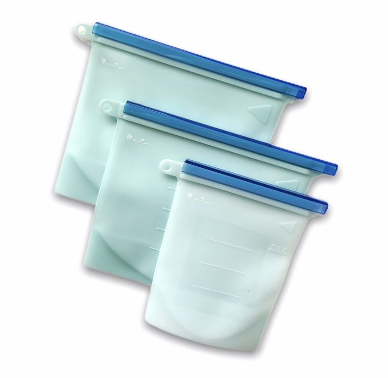 Me Mother Earth Reusable Silicone Bags - 3 Pack