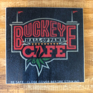 Buckeye Cafe Coaster by Foundry Woodprints