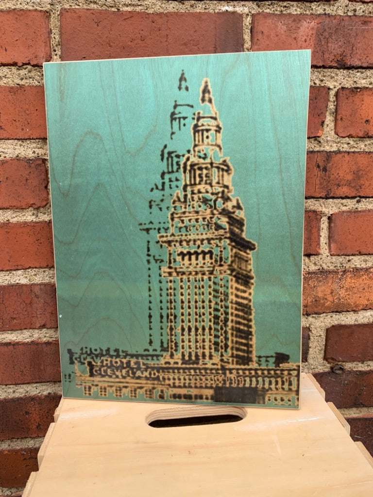 Terminal Tower Woodprint by Foundry Woodprints