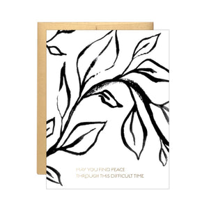 May You Find Peace through this Difficult Time - Vines Card by Lake Erie Design Co