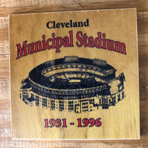 Cleveland Municipal Stadium 1931-1996 Coaster by Foundry Woodprints
