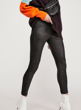 Load image into Gallery viewer, MIDNIGHT VEGAN SUEDE SKIN LEGGINGS
