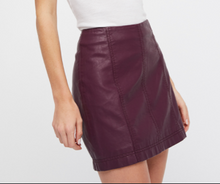 Load image into Gallery viewer, MODERN FEMME VEGAN SUEDE MINI SKIRT