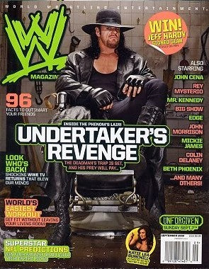 WWE Magazine September 2008 The Undertaker