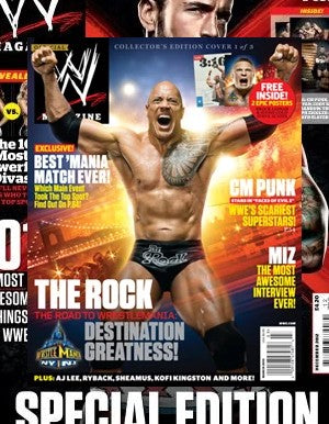 WWE Magazine March 2013 The Rock & Brock Lesnar