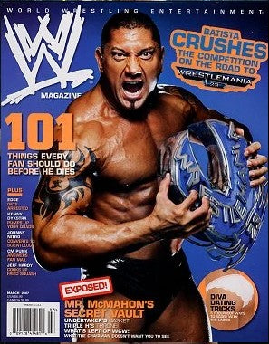 WWE Magazine March 2007 Batista