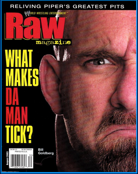 WWE Raw Magazine August 2003