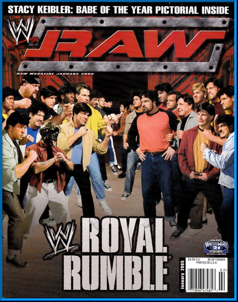 WWE Raw Magazine January 2005
