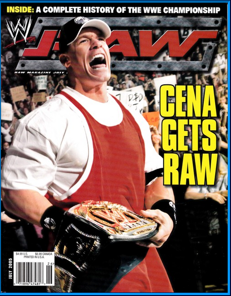 WWE Raw Magazine July 2005 Cena