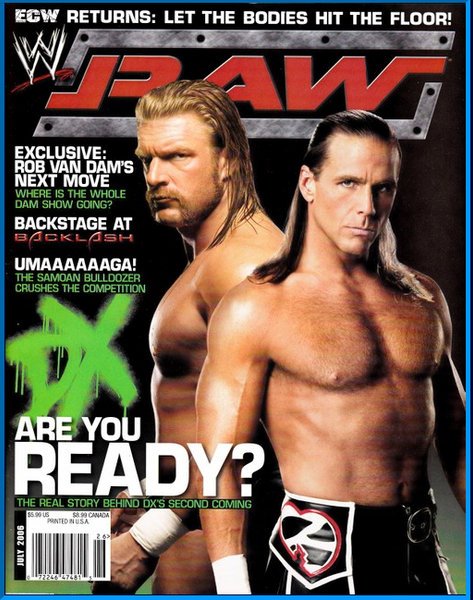 WWE Raw Magazine July 2006 DX, Triple H, Shawn Michaels