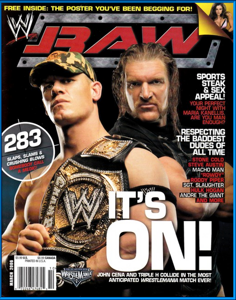 WWE Raw Magazine March 2006 John Cena & Triple H