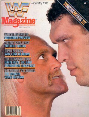 WWF Magazine April/May 1987  Hulk Hogan & André the Giant
