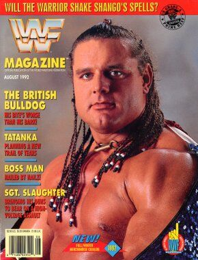 WWF Magazine August 1992 Davey Boy Smith