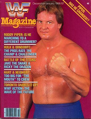 WWF Magazine December/January 1986/87 Roddy Piper