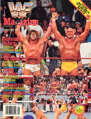 WWF Magazine February 1991 Hulk Hogan & Warrior