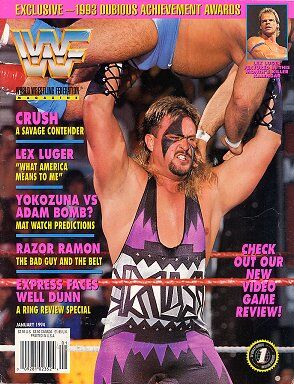 WWF Magazine January 1994 Crush & Lex Luger