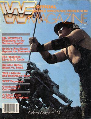 WWF Magazine June/July 1984 Sgt. Slaughter