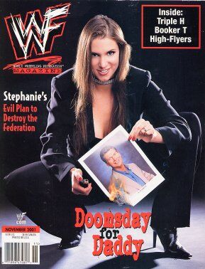 WWF Magazine November 2001 Stephanie McMahon