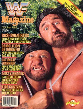 WWF Magazine October 1989 The Bushwhackers & Brian Wickens