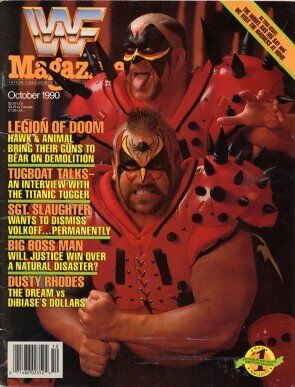 WWF Magazine October 1990 Legion of Doom & Road Warrior Animal