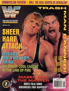 WWF Magazine September 1994 Jim Neidhart & Owen Hart
