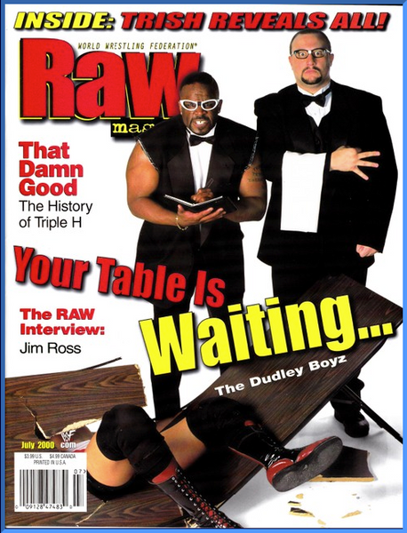 WWF Raw Magazine July 2000 Jim Ross
