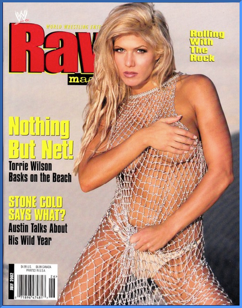 WWE Raw Magazine July 2002 Torrie Wilson