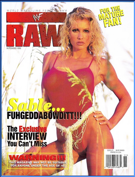 WWF Raw Magazine November 1998 Sable