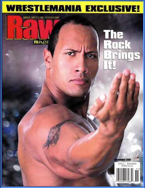 WWF Raw Magazine November 2001 The Rock