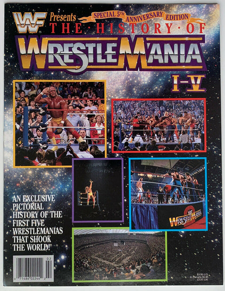 The History Of Wrestlemania I-V Magazine Special Edition