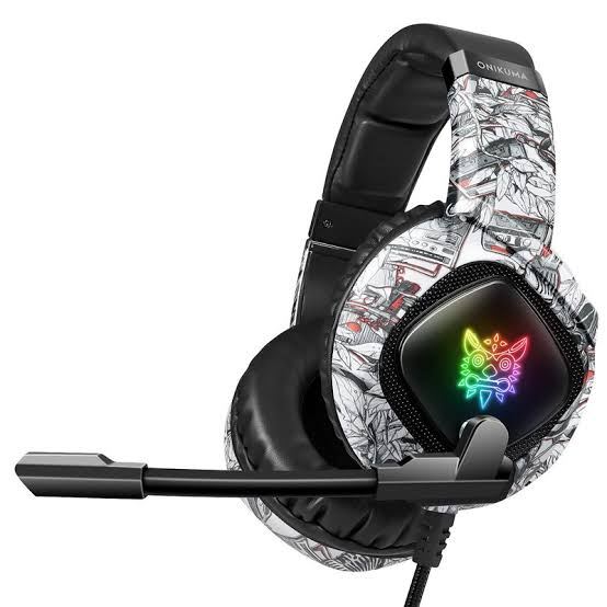 Original ONIKUMA K19 Gaming wired Headset Bass Headphones With Microphone For PS4 New Xbox One Laptop PC Tablet phone RGB LED Lights Earphone