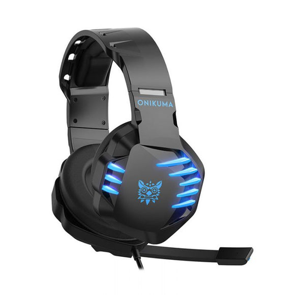 Original ONIKUMA K17 Gaming wired Headset Bass Headphones With Microphone For PS4 New Xbox One Laptop PC Tablet phone RGB LED Lights Earphone