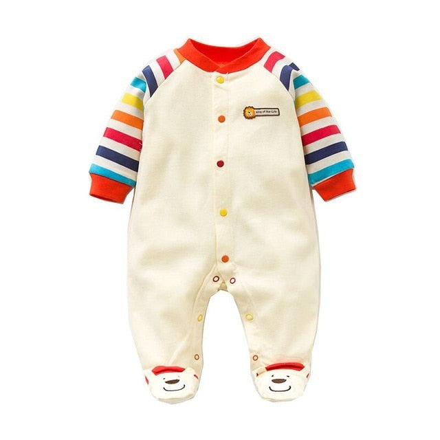 Spring, Autumn Baby Rompers or Jumpsuits 100% Cotton Newborn Baby Clothes Long Sleeves