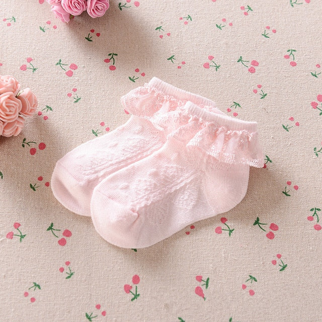 YWHUANSEN 0 to 6 Yrs Toddler Baby Child Girls Ruffle Lace Ankle Cotton Dress Socks Princess Summer Cotton Eyelet Flower Socks