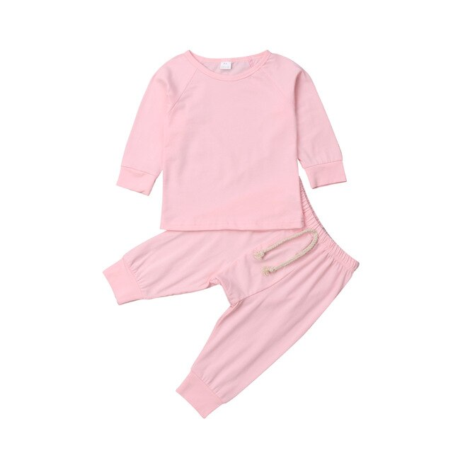 Pudcoco Baby Boy Girl soft cotton Pajamas Clothes Set Sleepwear Nightwear Outfit for Newborn Infant Children Cloth Kid Clothing