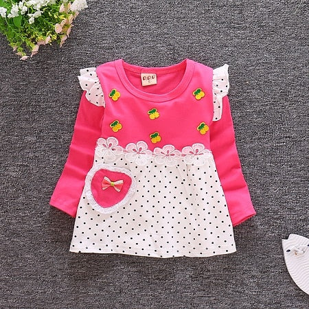 DIIMUU Kids Girls Fashion Clothing  Girl Spring Dresses Cute Fly Sleeveless Children  Dress Suit 1-3Years