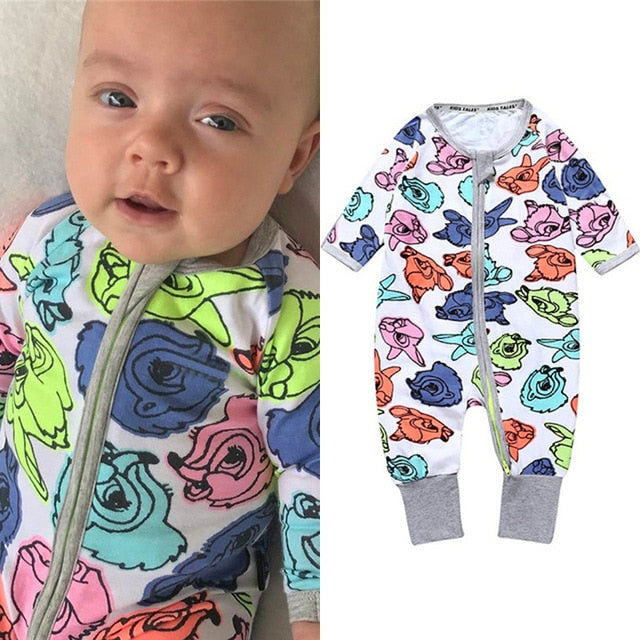 2020 Spring Autumn Long Sleeve Boy Girl Cotton Baby Cartoon Romper Kids Onesies Clothing Jumpsuit Newborn Infant pajamas Outfits