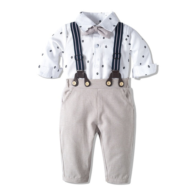 Romper Clothes Set For Baby Boy With Bow Hat Gentleman Striped Summer Suit With Bow Toddler Kid Bodysuit Set Infant Boy Clothing